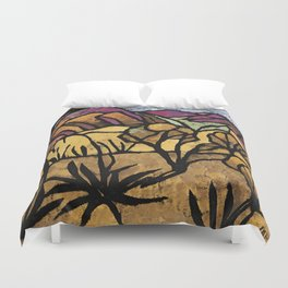 """""""A Mile Out of Alice Spings"""" Margaret Preston Duvet Cover"""