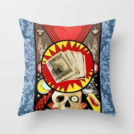 Fate or Fortune Throw Pillow
