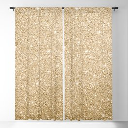 Modern abstract elegant chic gold glitter Blackout Curtain