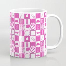 Contraception Pattern (Pink) Coffee Mug