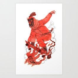 Sk8 The 40oz Art Print