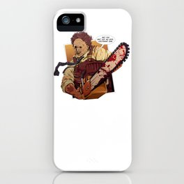 Leatherface Gump iPhone Case