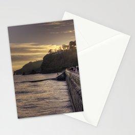 Dawlish Winter Huts Stationery Cards