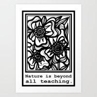 Suazo Flowers Black and White Art Print