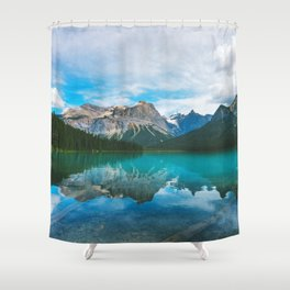 The Mountains and Blue Water - Nature Photography Shower Curtain