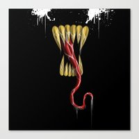 venom Canvas Prints featuring Venom by Carlos Deltizzle