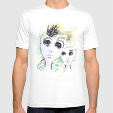 Cold White MEDIUM Mens Fitted Tee