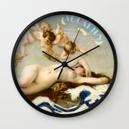 Zodiac art: aquarius Wall Clock