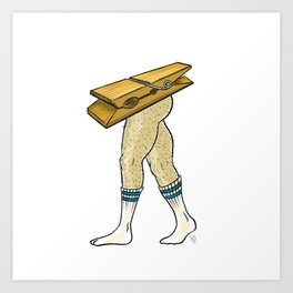 Clothespin Scrambled Legs Art Print