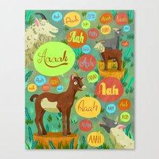 Screaming Goats Canvas Print