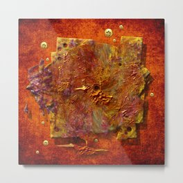 Abstract disc Metal Print