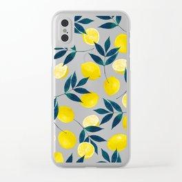 Lemony Goodness Clear iPhone Case