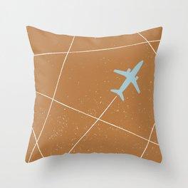 The Jet Set - Rust Throw Pillow