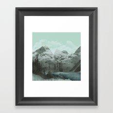 The Mountain Lake (Green) Framed Art Print