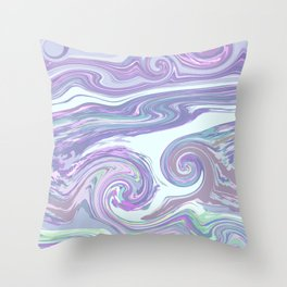 PURPLE MIX Throw Pillow
