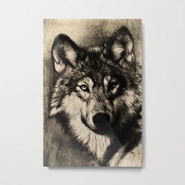 The Gray Metal Print