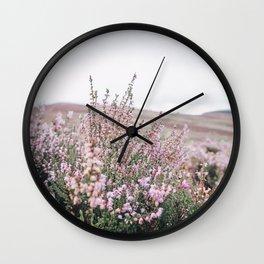 Heather field Wall Clock
