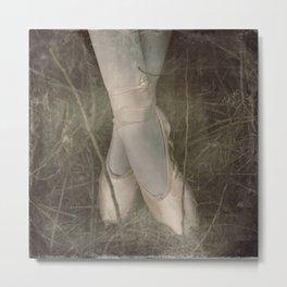 Vintage Film Ballet slippers Metal Print