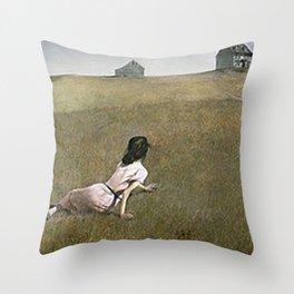 Christina's World - Andrew Wyeth Throw Pillow