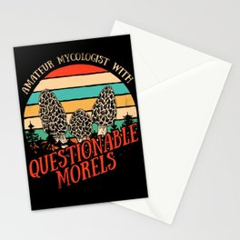 Amateur Mycologist With Questionable Morels Shirt Gift Stationery Cards