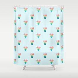 Kawaii Spring lovers pattern Shower Curtain