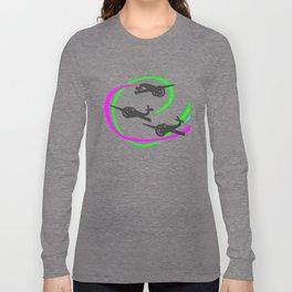 Aerobatic planes  Vivid Vapor trails Long Sleeve T-shirt