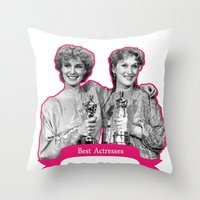 jessica lange Throw Pillows featuring Jessica Lange and Meryl Streep by BeeJL