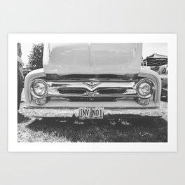 Truck Face Art Print