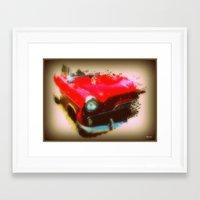 50s Framed Art Prints featuring 50s Zodiac by elkart51