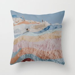 Salvation Mountain XIV / Slab City, California Throw Pillow