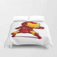 ironman Duvet Covers featuring IRONMAN by MauroPeroni