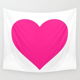 Heart (Dark Pink & White) Wall Tapestry