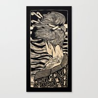 geisha Canvas Prints featuring Geisha by Mario Sayavedra