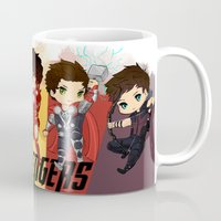 1d Mugs featuring 1D Avengers by RockitRocket