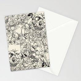 SKULLS 5 HALLOWEEN SKULL Stationery Cards