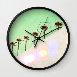 Levitated Mass (Green) Wall Clock