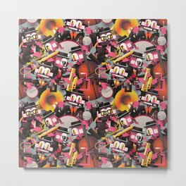 Jazz Monkeys Metal Print