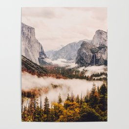 Amazing Yosemite California Forest Waterfall Canyon Poster