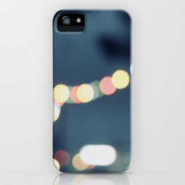 Along the bokeh line iPhone Case