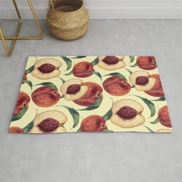 Watercolor sweet peaches Rug