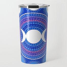 Moon Cycle Mandala Travel Mug