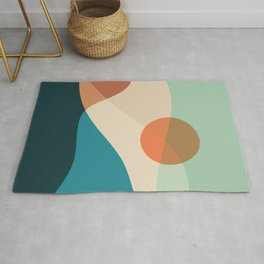 Abstraction_SUNSET_Beautiful_Day_Minimalism_001D Rug