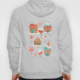 Gingerbread Candy Land on pink Hoody