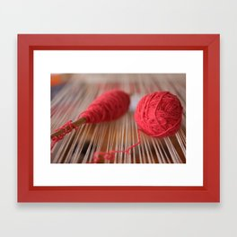 Loom and spindle craft Framed Art Print
