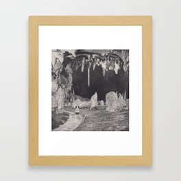 MYSTIC CAVE Framed Art Print