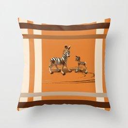 Butterscotch Stripes Throw Pillow