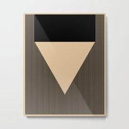 Beige Triangle Metal Print