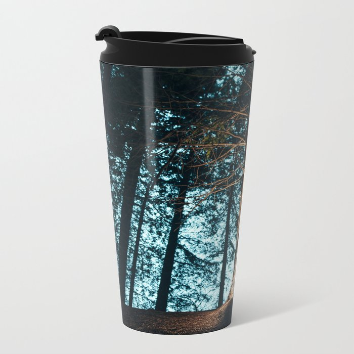 Shadow in the forest Metal Travel Mug