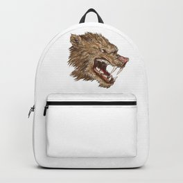 Head with sharp teeth Backpack