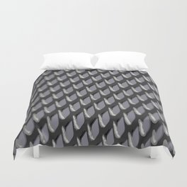 Just Grate Abstract Pattern With Heather Background Duvet Cover
